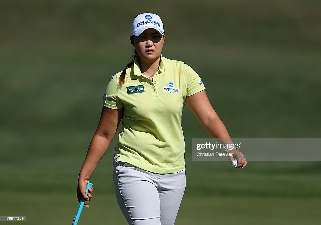 Mirim Lee of South Korea walks off the sixth green during the second round of the JTBC LPGA Founders Cup at Wildfire Golf Club on March 21, 2014 in Phoenix, Arizona.