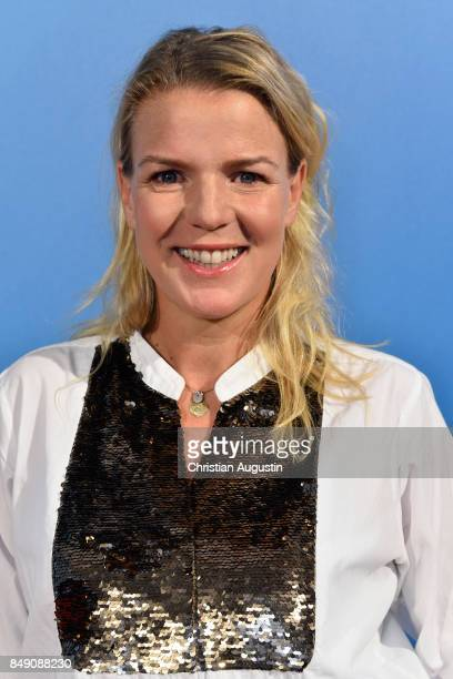 Mirja Boes attends 'RTL Serienreif' Press Talk and Photcall at Trend Kueche und Club on September 18 2017 in Hamburg Germany