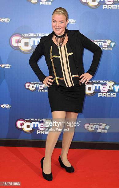 Mirja Boes attends the 17th Annual of the German Comedy Awards at Coloneum on October 15 2013 in Cologne Germany