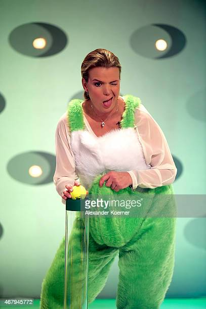 Mirja Boes is seen during the national tv show 'Willkommen bei Carmen Nebel' at TUI Arena on March 28 2015 in Hanover Germany