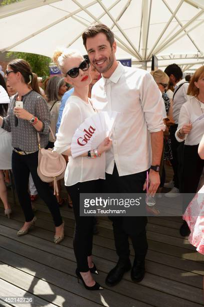 Mirja du Mont and Jochen Schropp attend the Gala Fashion Brunch at Ellington Hotel on July 11 2014 in Berlin Germany