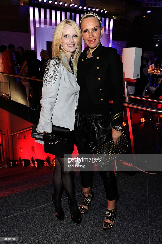 Mirja du Mont and Natascha Ochsenknecht attend the 'OK! Style Award 2010' at the british embassy on May 6, 2010 in Berlin, Germany.