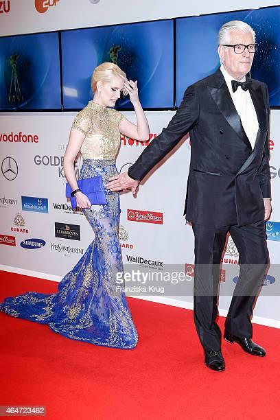 Mirja Du Mont and Sky du Mont attend the Goldene Kamera 2015 on February 27 2015 in Hamburg Germany