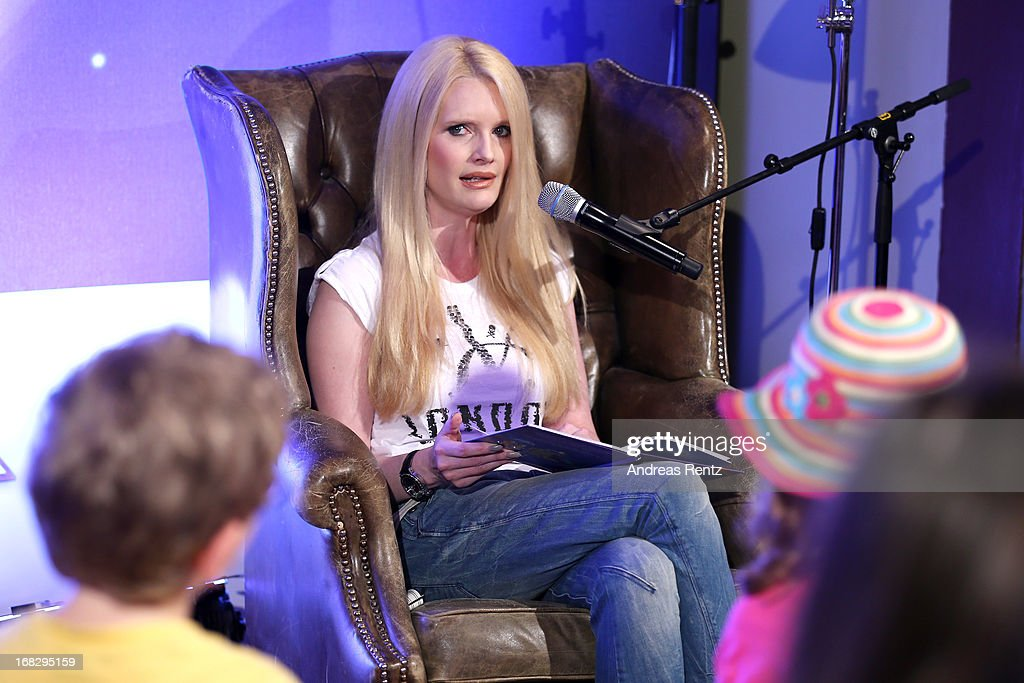Mirja du Mont attends McDonald's Reading Event at McDonalds Kurfuersten Damm on May 8, 2013 in Berlin, Germany.