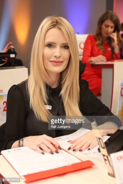 Mirja du Mont attends the 22nd RTL Telethon on November 24 2017 in Huerth Germany