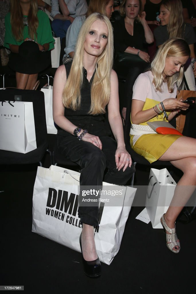 Mirja du Mont attends the Dimitri show during the Mercedes-Benz Fashion Week Spring/Summer 2014 at Brandenburg Gate on July 3, 2013 in Berlin, Germany.
