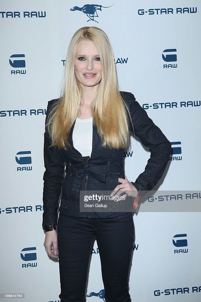 Mirja Du Mont attends the G-Star Autumn/Winter 2013 runway show at St. Agnes Church on January 15, 2013 in Berlin, Germany.