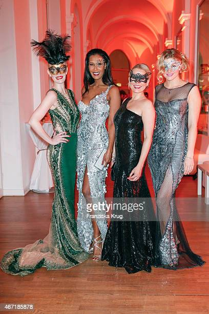 Mirja du Mont Marie Amiere Nova Meierhenrich and Nina Bott attend the Bal Masque 2015 on March 21 2015 in Hamburg Germany