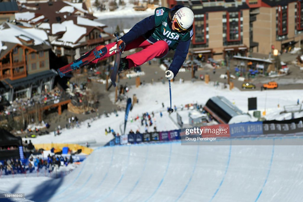 Mirjam Jaeger of Switzerland competes during qualification for the ladies Ski Halfpipe FIS Freestyle Ski World Cup at the US Grand Prix on January 9, 2013 in Copper Mountain, Colorado.