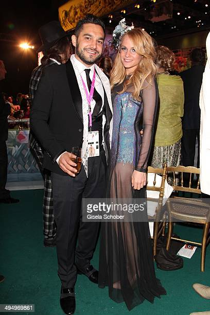 Mirjam Weichselbraun and her boyfriend Ben Mawson attend the Life Ball 2014 after show party at City Hall on May 31 2014 in Vienna Austria