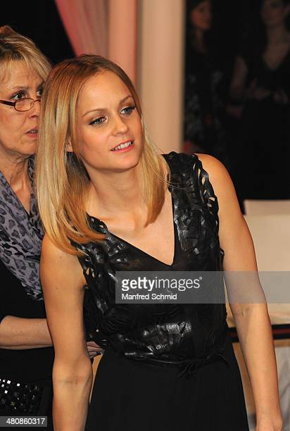 Mirjam Weichselbraun attends the 'Dancing Stars' TV Show after party at ORF Zentrum on March 21 2014 in Vienna Austria