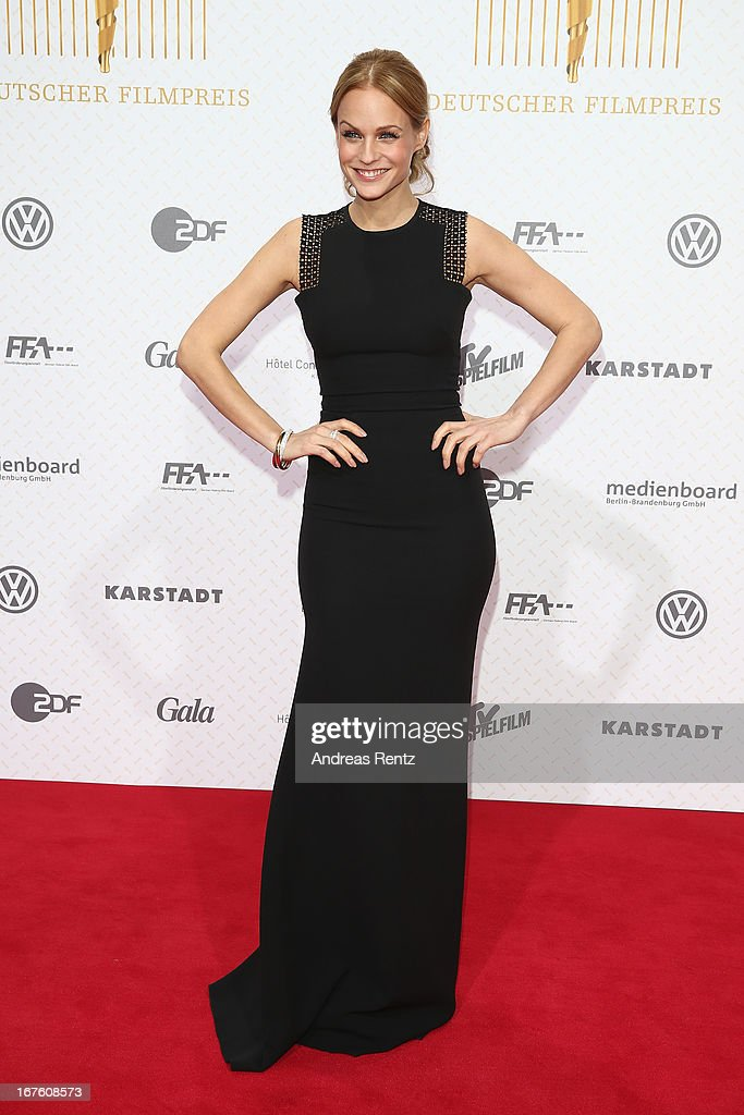 Mirjam Weichselbraun attends the Lola - German Film Award 2013 at Friedrichstadt-Palast on April 26, 2013 in Berlin, Germany.