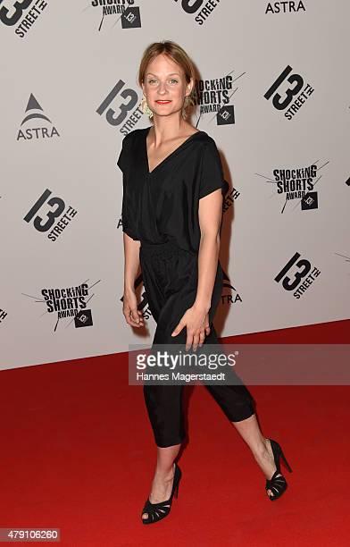 Mirjam Weichselbraun attends the Shocking Shorts Award 2015 during the Munich Film Festival on June 30 2015 in Munich Germany