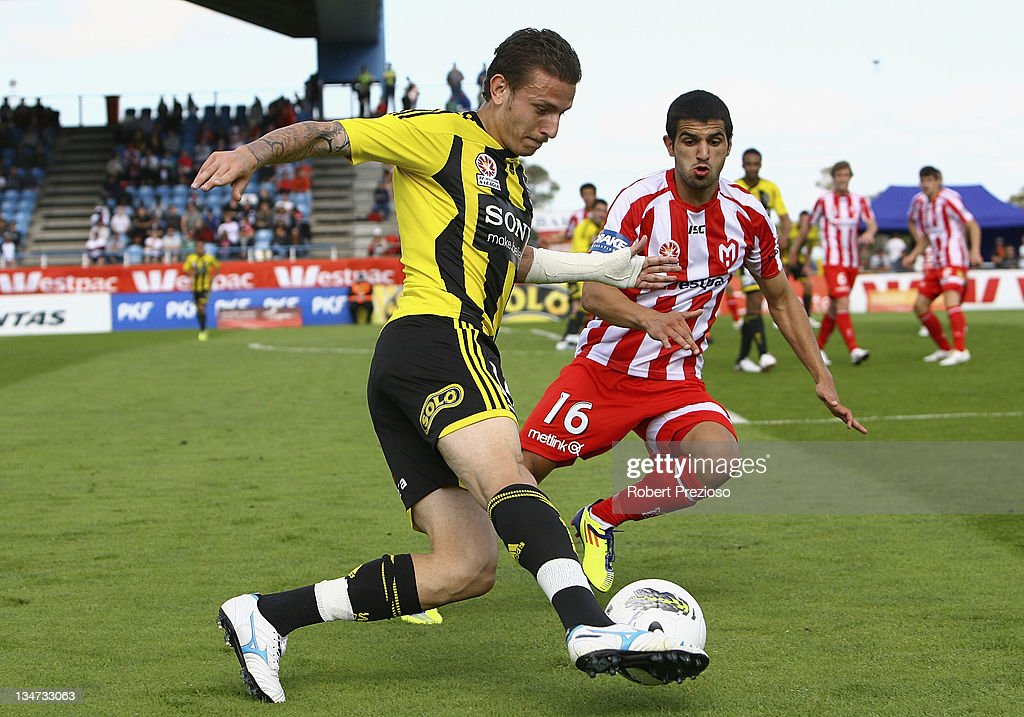 Mirjan Pavlovic of the Phoenix controls the ball during the round nine A-League match between the Melbourne Heart and the Wellington Phoenix at Latrobe City Sports & Entertainment Complex on December 4, 2011 in Melbourne, Australia.