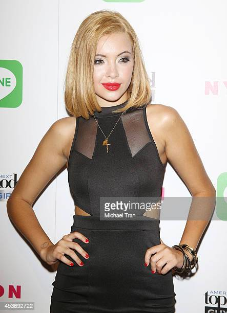 Mirjana Puhar arrives at America's Next Top Model Cycle 21 premiere party held at SupperClub Los Angeles on August 20 2014 in Los Angeles California