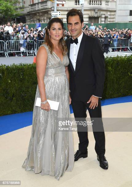 Mirka Federer and Roger Federer attend the 'Rei Kawakubo/Comme des Garcons Art Of The InBetween' Costume Institute Gala at the Metropolitan Museum of...
