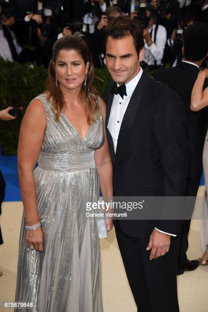 Mirka Federer and Roger Federer attend the Rei Kawakubo/Comme des Garcons Art Of The InBetween Costume Institute Gala at Metropolitan Museum of Art...