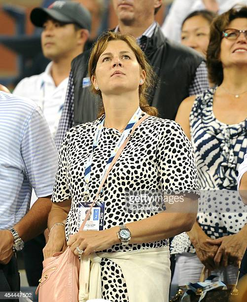 Mirka Federer attends day 6 of the 2014 US Open at USTA Billie Jean King National Tennis Center on August 31 2014 in New York City