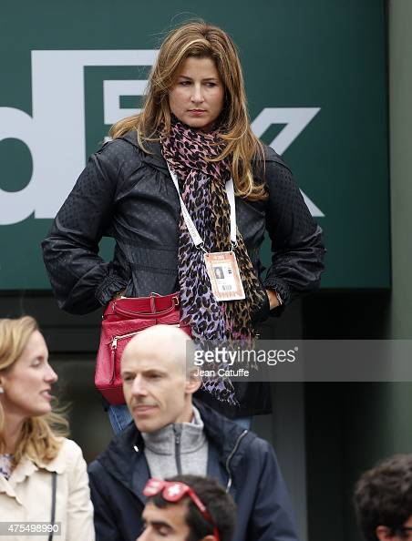 Mirka Federer attends day 8 of the French Open 2015 at Roland Garros stadium on May 31 2015 in Paris France