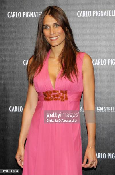 Mirka Viola attends Carlo Pignatelli Cerimonia Fashion Show during Milan Fashion Week Menswear Spring/Summer 2010 on June 19 2009 in Milan Italy