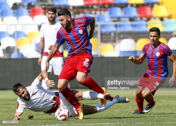 Mirkan Aydin of Altinordu is in action during Turkish Football Federation 1st League match between Altinordu and Gaziantepspor at Bornova Stadium in...