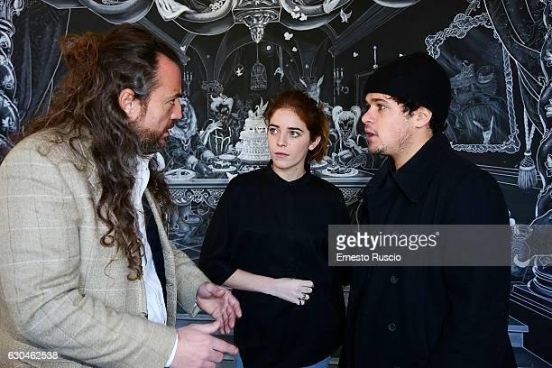 Mirko Frezza Valentina Romani and Brando Pacitto attend the 'Fantastico Dolce Natale' Charity Lunch at Dolce restaurant on December 23 2016 in Rome...