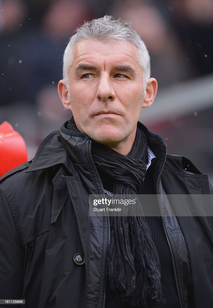 <a gi-track='captionPersonalityLinkClicked' href=/galleries/search?phrase=Mirko+Slomka&family=editorial&specificpeople=874525 ng-click='$event.stopPropagation()'>Mirko Slomka</a>, head coach of Hannover looks on during the Bundesliga match between Hannover 96 and TSG 1899 Hoffenheim at AWD Arena on February 9, 2013 in Hannover, Germany.