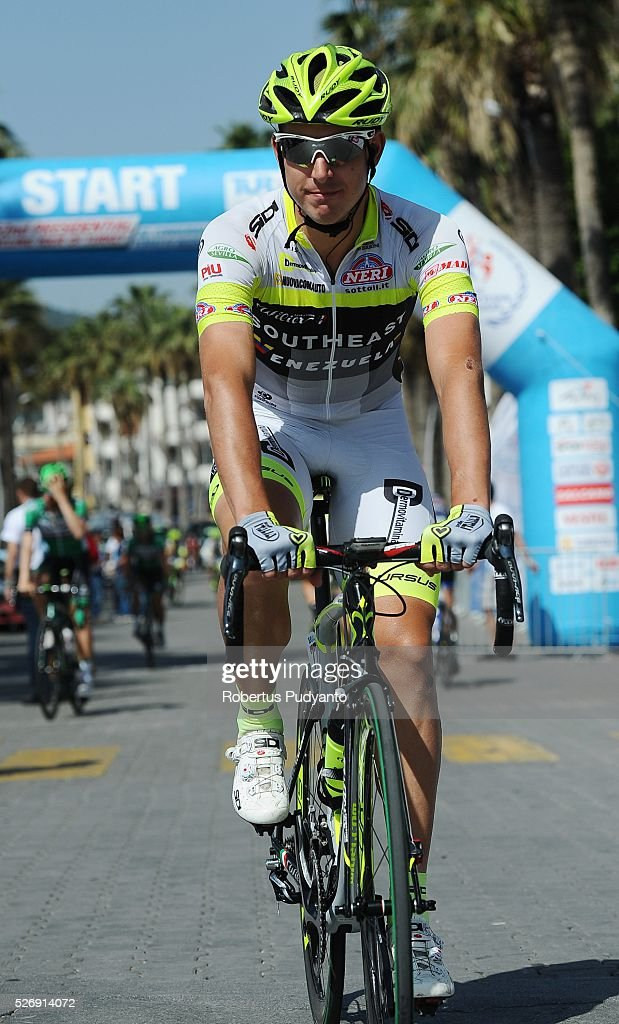 Mirko Tedeschi of Southeast-Venezuela warms up during Stage 8 of the 2016 Tour of Turkey, Marmaris to Selcuk (201.5 km) on May 1, 2016 in Marmaris, Turkey.