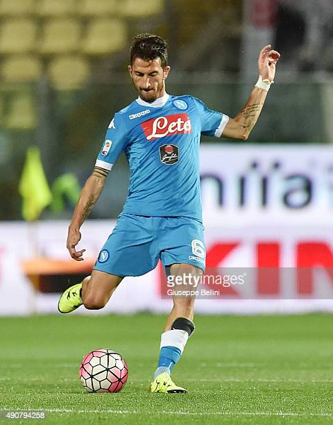 Mirko Valdifiori of Napoli in action during the Serie A match between Carpi FC and SSC Napoli at Alberto Braglia Stadium on September 23 2015 in...