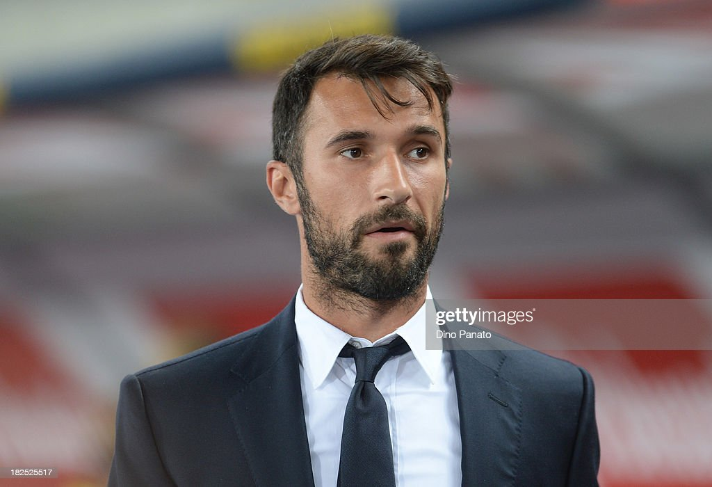 <a gi-track='captionPersonalityLinkClicked' href=/galleries/search?phrase=Mirko+Vucinic&family=editorial&specificpeople=860475 ng-click='$event.stopPropagation()'>Mirko Vucinic</a> of Juventus looks on before the Serie A match between AC Chievo Verona and Juventus at Stadio Marc'Antonio Bentegodi on September 25, 2013 in Verona, Italy.