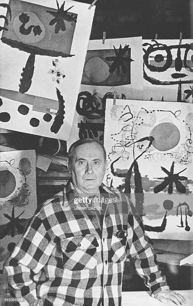 Miro, Joan *20.04.1893-+Maler, Bildhauer, Grafiker, E- vor seinen Werken- 1959