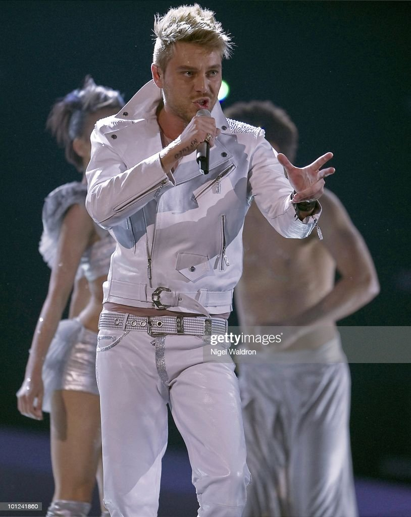 Miro of Bulgaria performs during the dress rehearsal of the Eurovision Song Contest on May 26, 2010 in Oslo, Norway.
