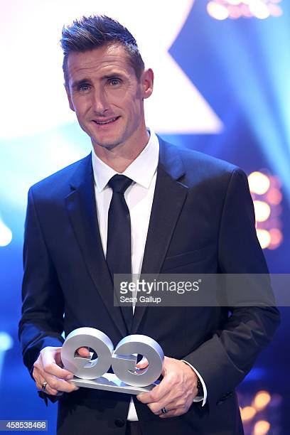 Miroslav Klose is seen on stage at the GQ Men Of The Year Award 2014 at Komische Oper on November 6 2014 in Berlin Germany