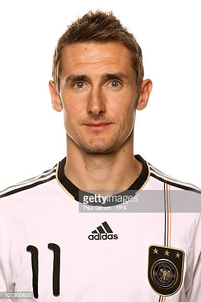 Miroslav Klose of Germany poses during the official Fifa World Cup 2010 portrait session at Velmore Hotel on June 8 2010 in Pretoria South Africa