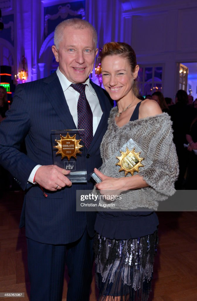 Miroslav Nemec and Rhea Harder attend networking event 'Movie meets Media' at Hotel Atlantic on December 2 2013 in Hamburg Germany