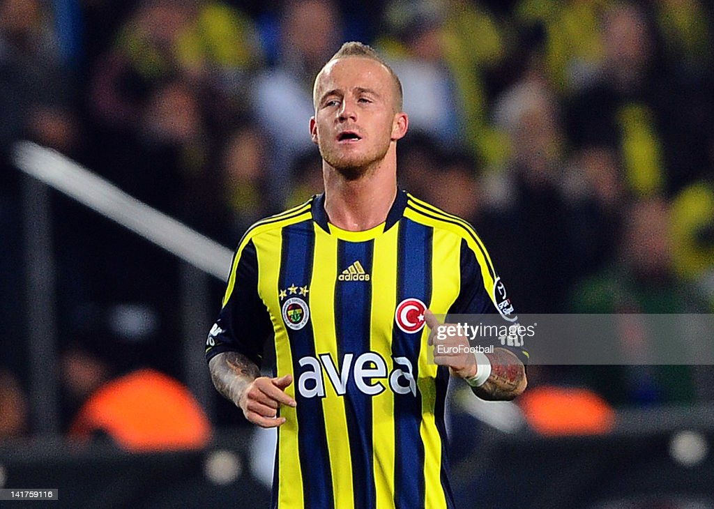 <a gi-track='captionPersonalityLinkClicked' href=/galleries/search?phrase=Miroslav+Stoch&family=editorial&specificpeople=5446681 ng-click='$event.stopPropagation()'>Miroslav Stoch</a> of Fenerbahce SK in action during the Turkish Spor Toto Super Lig match between Fenerbahce SK and Galatasaray AS held on March 17, 2012 at the Sukru Saracoglu Stadium in Istanbul, Turkey.