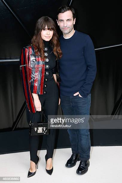 Miroslava Duma and Fashion Designer Nicolas Ghesquiere pose after the Louis Vuitton show as part of the Paris Fashion Week Womenswear Fall/Winter...