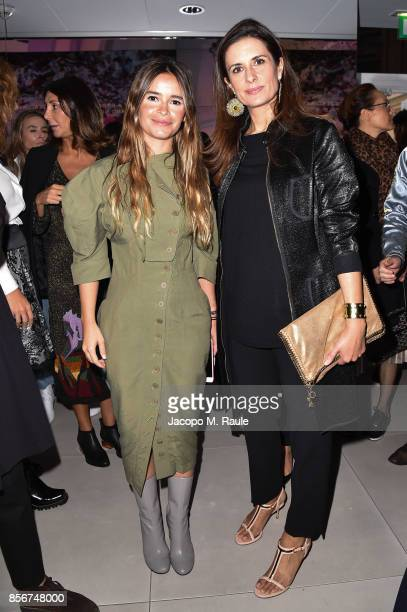 Miroslava Duma and Livia Firth attend Fashion Tech Lab launch event hosted by Miroslava Duma and Stella McCartney as part of Paris Fashion Week...