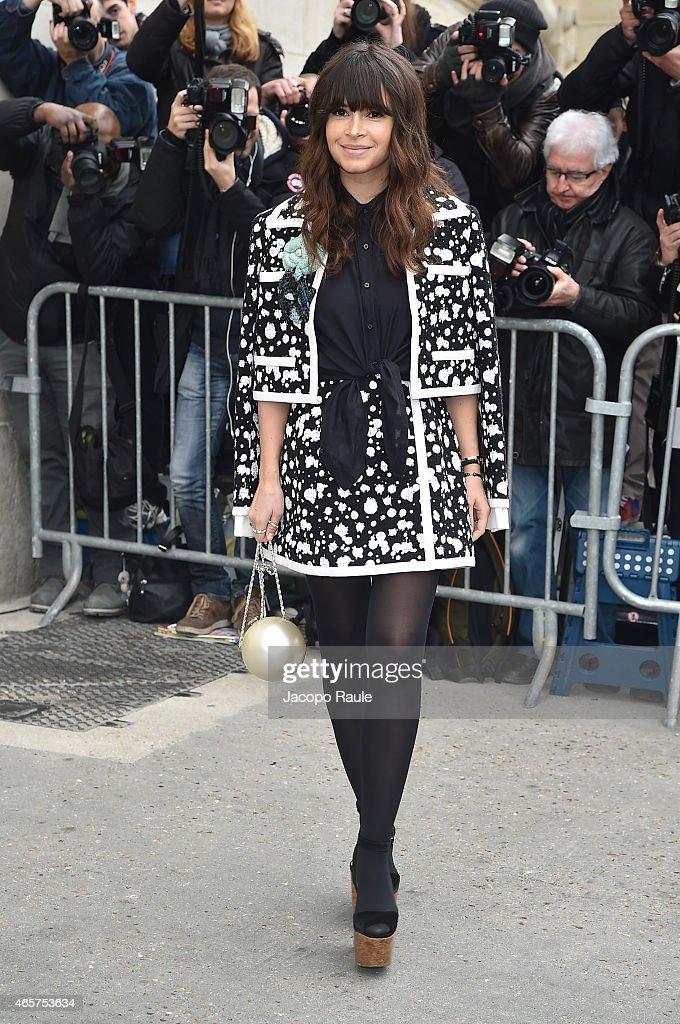 Miroslava Duma arrives at Chanel Fashion Show during Paris Fashion Week Fall Winter 2015/2016 on March 10 2015 in Paris France