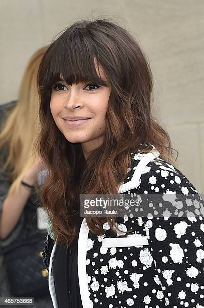 Miroslava Duma arrives at Chanel Fashion Show during Paris Fashion Week Fall Winter 2015/2016 on March 10 2015 in Paris France