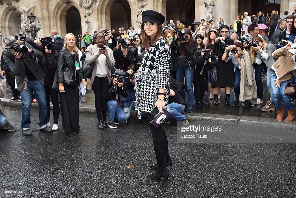 Miroslava Duma arrives at Stella McCartney during Paris Fashion Week Womenswear SS 2015 on September 29 2014 in Paris France