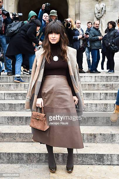 Miroslava Duma arrives at Stella McCartney Fashion Show during Paris Fashion Week Fall Winter 2015/2016 on March 9 2015 in Paris France