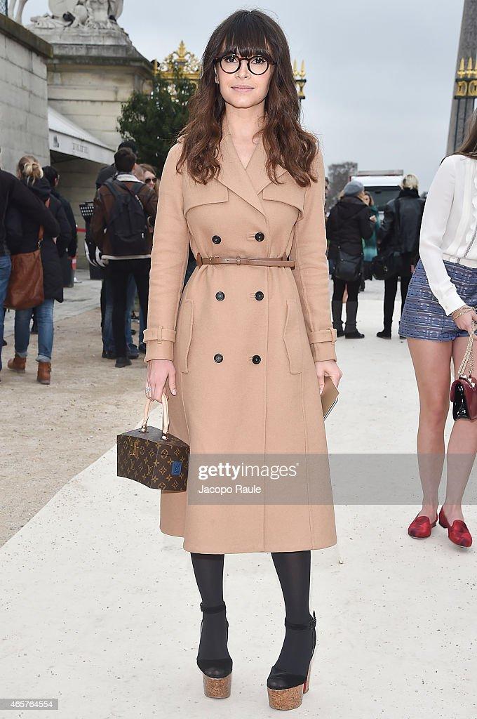 Miroslava Duma arrives at Valentino Fashion Show during Paris Fashion Week Fall Winter 2015/2016 on March 10 2015 in Paris France