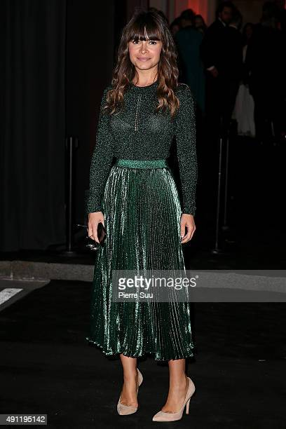 Miroslava Duma arrives at Vogue 95th Anniversary Party as part of the Paris Fashion Week Womenswear Spring/Summer 2016 on October 3 2015 in Paris...