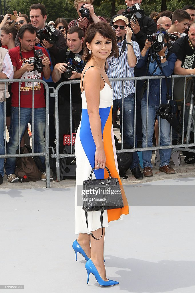 Miroslava Duma arrives to attend the Christian Dior show as part of Paris Fashion Week Haute Couture Fall/Winter 2013-2014 at on July 1, 2013 in Paris, France.