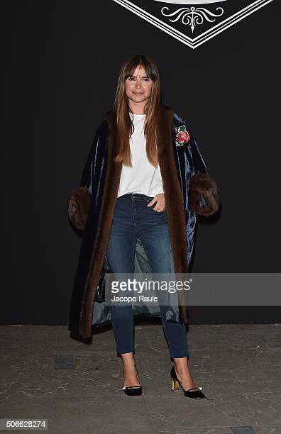 Miroslava Duma attends at the Versace fashion show as part of Paris Fashion Week Haute Couture Spring/Summer 2016 on January 24 2016 in Paris France