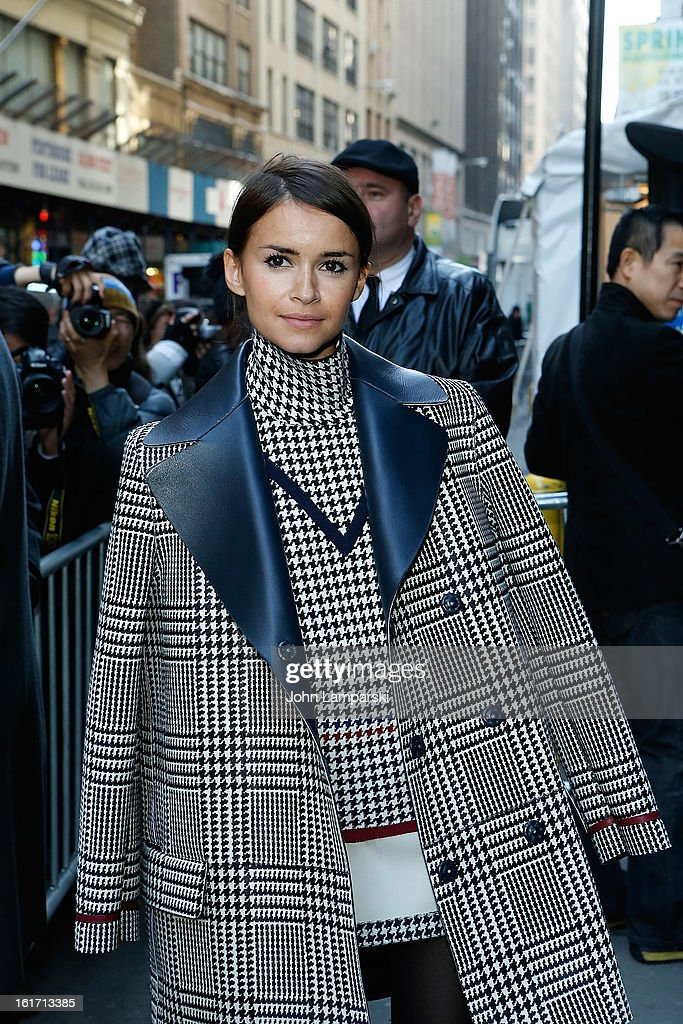 Miroslava Duma attends Calvin Klein Collection during Fall 2013 Mercedes-Benz Fashion Week on February 14, 2013 in New York City.
