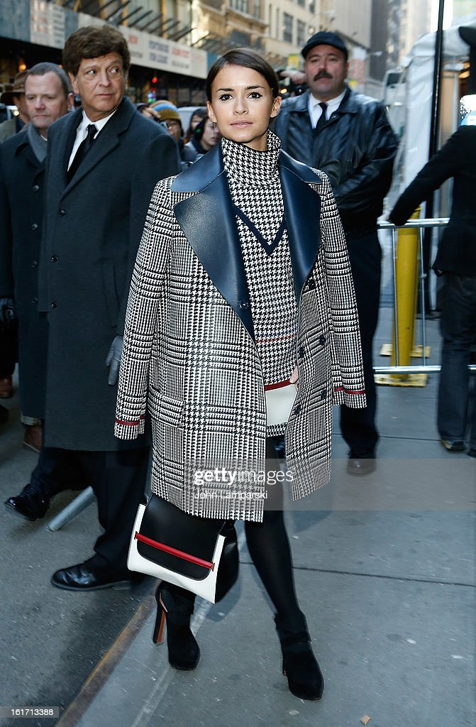 <a gi-track='captionPersonalityLinkClicked' href=/galleries/search?phrase=Miroslava+Duma&family=editorial&specificpeople=7039024 ng-click='$event.stopPropagation()'>Miroslava Duma</a> attends Calvin Klein Collection during Fall 2013 Mercedes-Benz Fashion Week on February 14, 2013 in New York City.