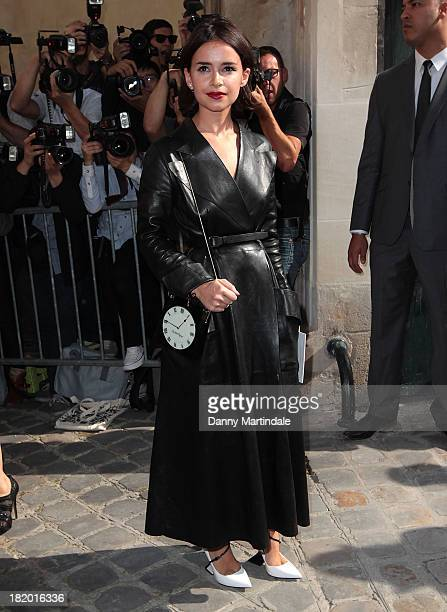 Miroslava Duma attends Christian Dior show at the Musee Rodin on September 27 2013 in Paris France