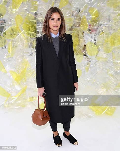 Miroslava Duma attends Delpozo during Fall 2016 New York Fashion Week at Pier 59 Studios on February 17 2016 in New York City